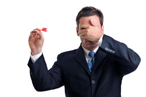 Businessman on white throwing dart with hand over eyes [url=http://www.istockphoto.com/file_search.php?action=file&lightboxID=4096051][img]http://www.erichood.net/bizpeep.jpg[/img][/url]